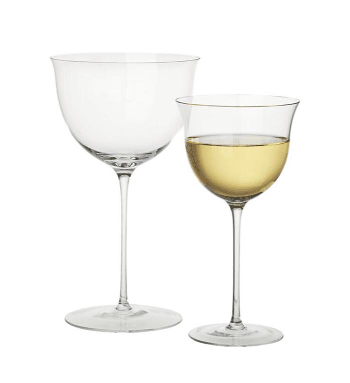 CB2 x Goop Blanco and Tinto Wine Glasses