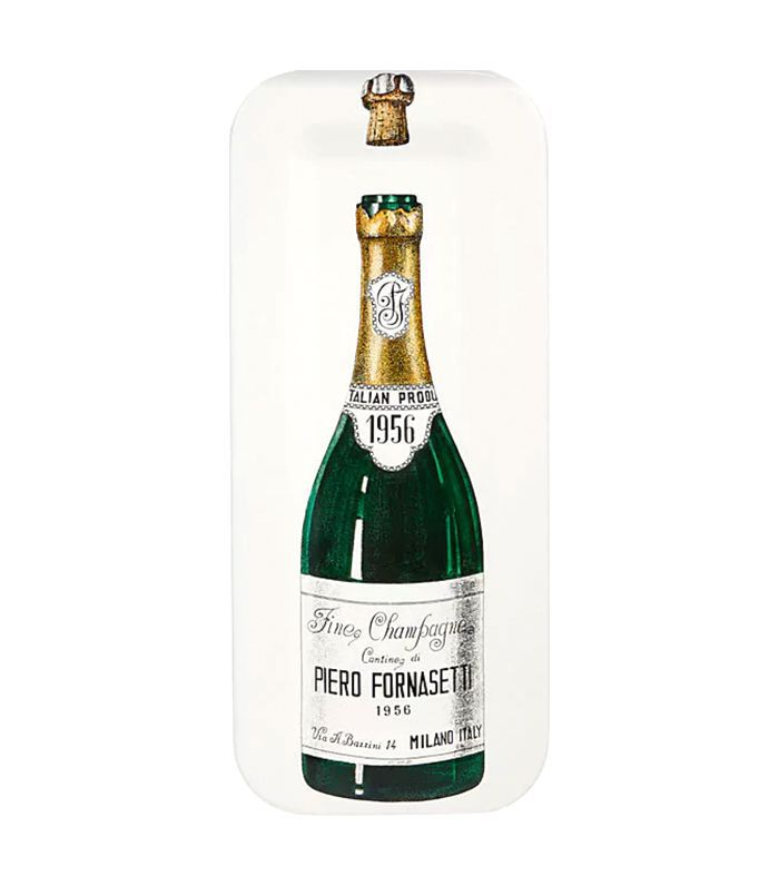 Champagne Bottle Rectangular Tray
