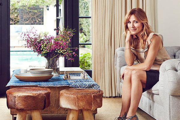 Sasha Alexander in her newly remodeled sitting room