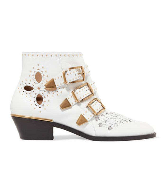 Susanna Cutout Studded Leather Ankle Boots