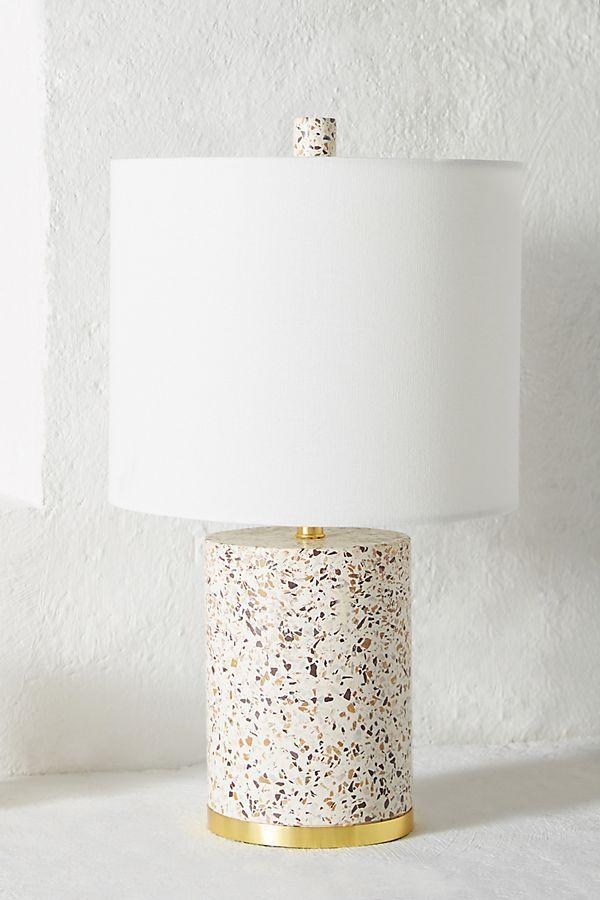 Anthropologie Elle Table Lamp Base Terrazzo flooring