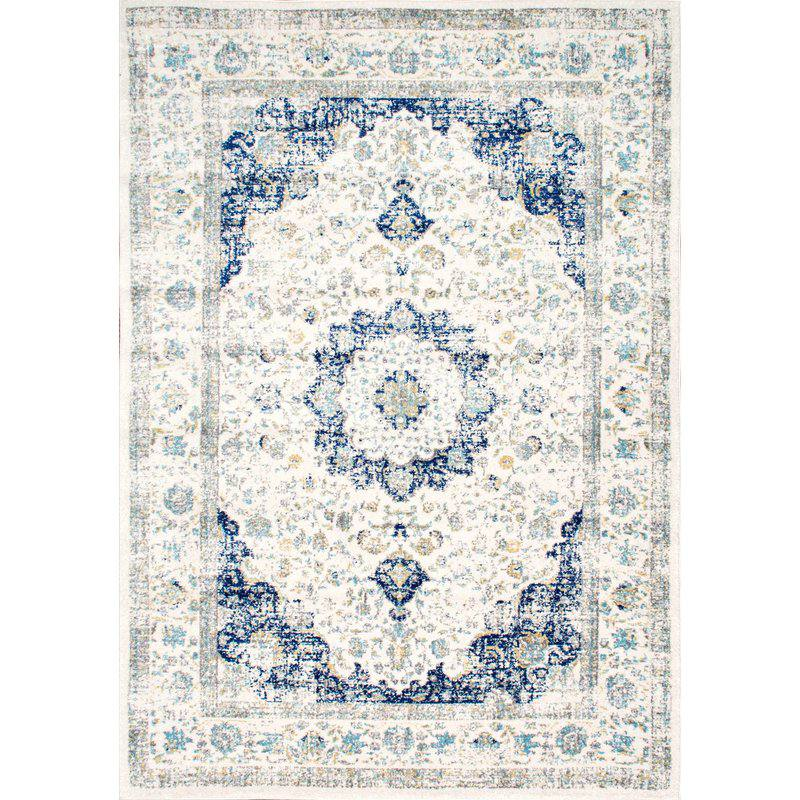 Hosking Blue Area Rug