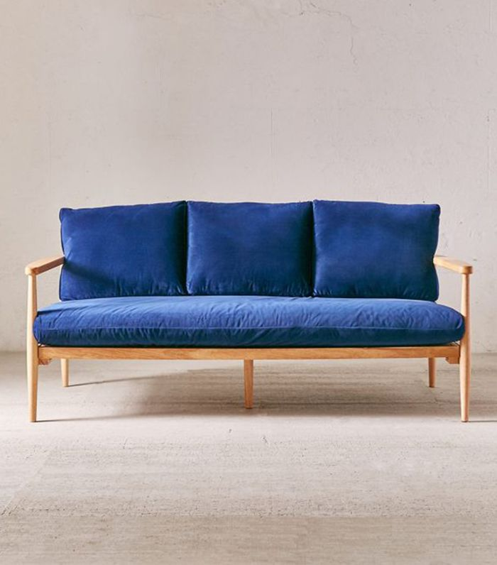 Minna Velvet Sofa - Lilac One Size at Urban Outfitters