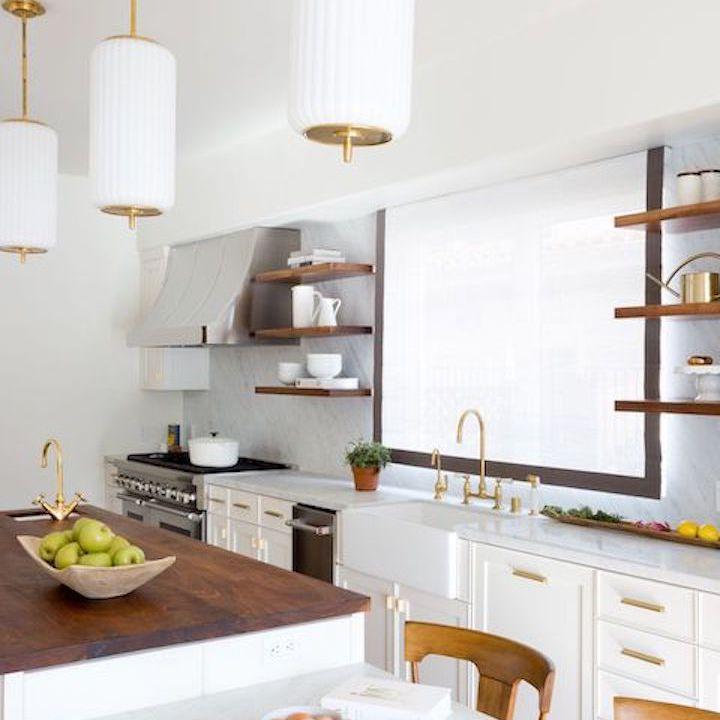 White kitchen with accessories.