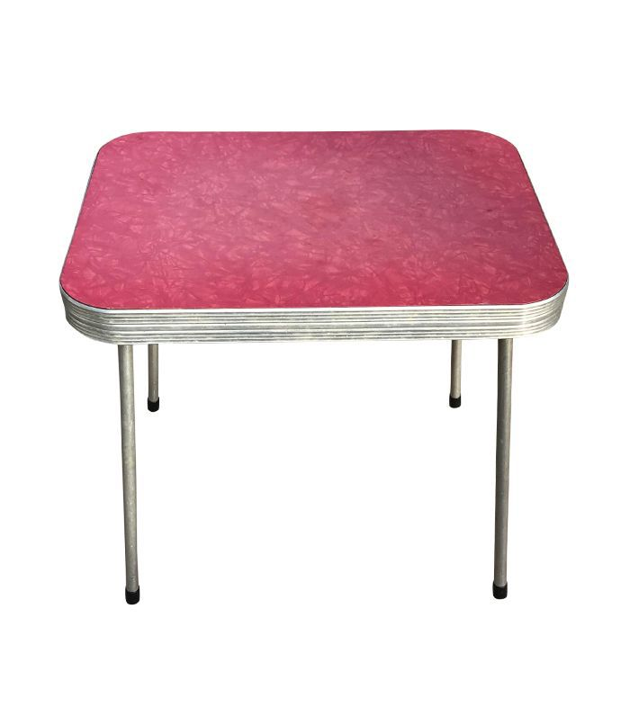 Vintage Red Formica Top Kitchen Table
