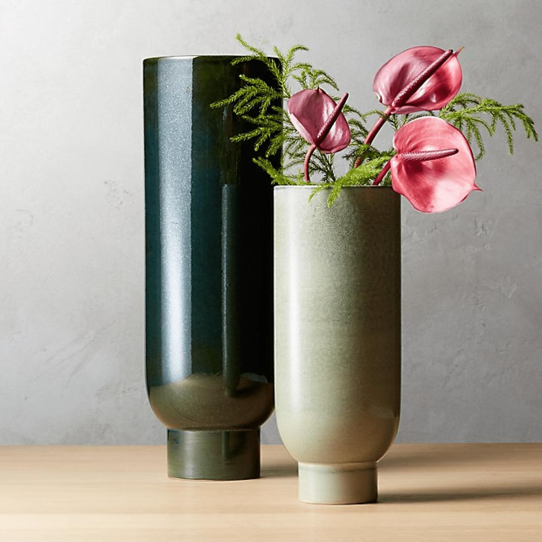 cb2 canopy vases