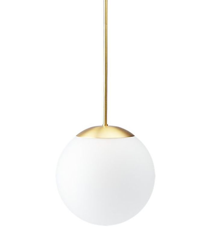CB2 Vega Indoor-Outdoor Brass Pendant Light