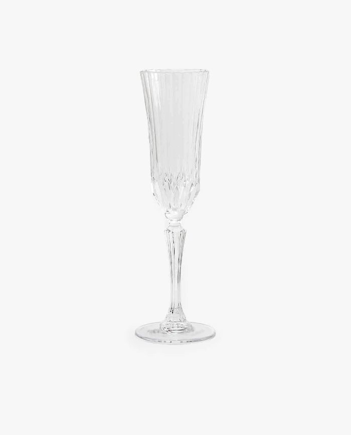 Zara Home Engraved Crystalline Champagne Flute