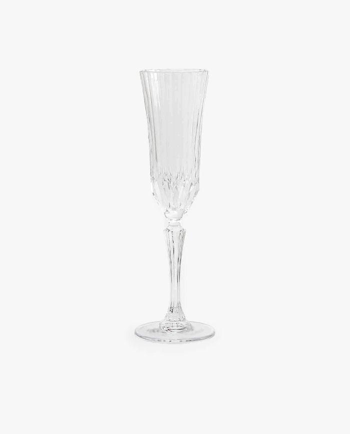 Zara Home Engraved Crystalline Champagne Flute