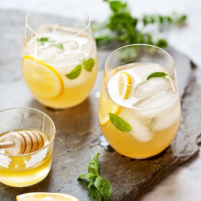 Limonada De Whisky Con Miel Jarabe Simple