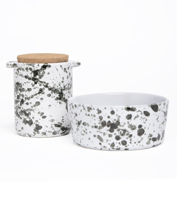 Waggo Splash Ceramic Dog Bowl