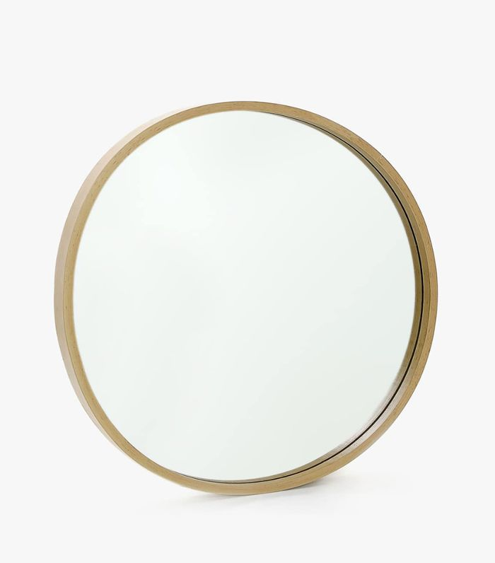 Zara Home Round Wooden Mirror