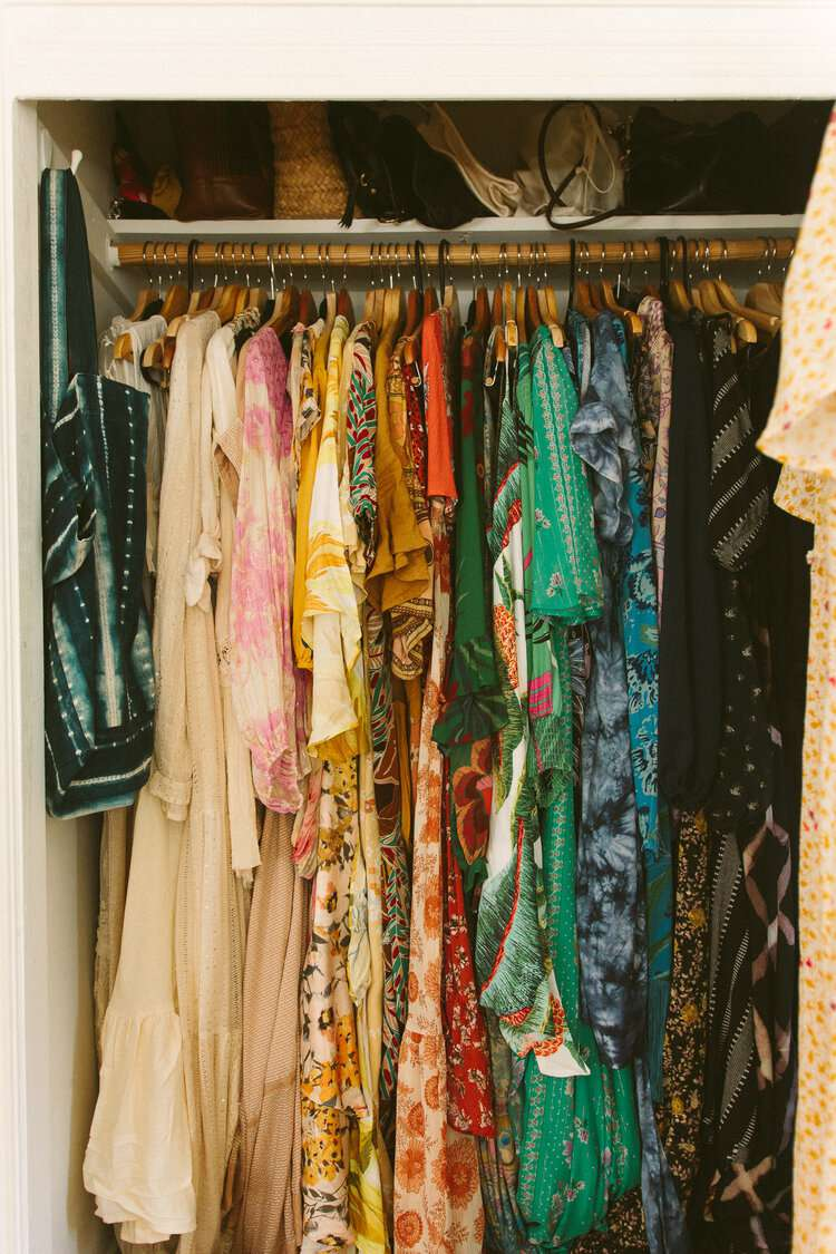Summery closet color coded