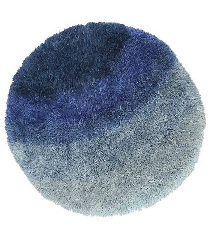 Be Who We Are Blue Shag Rug 6'