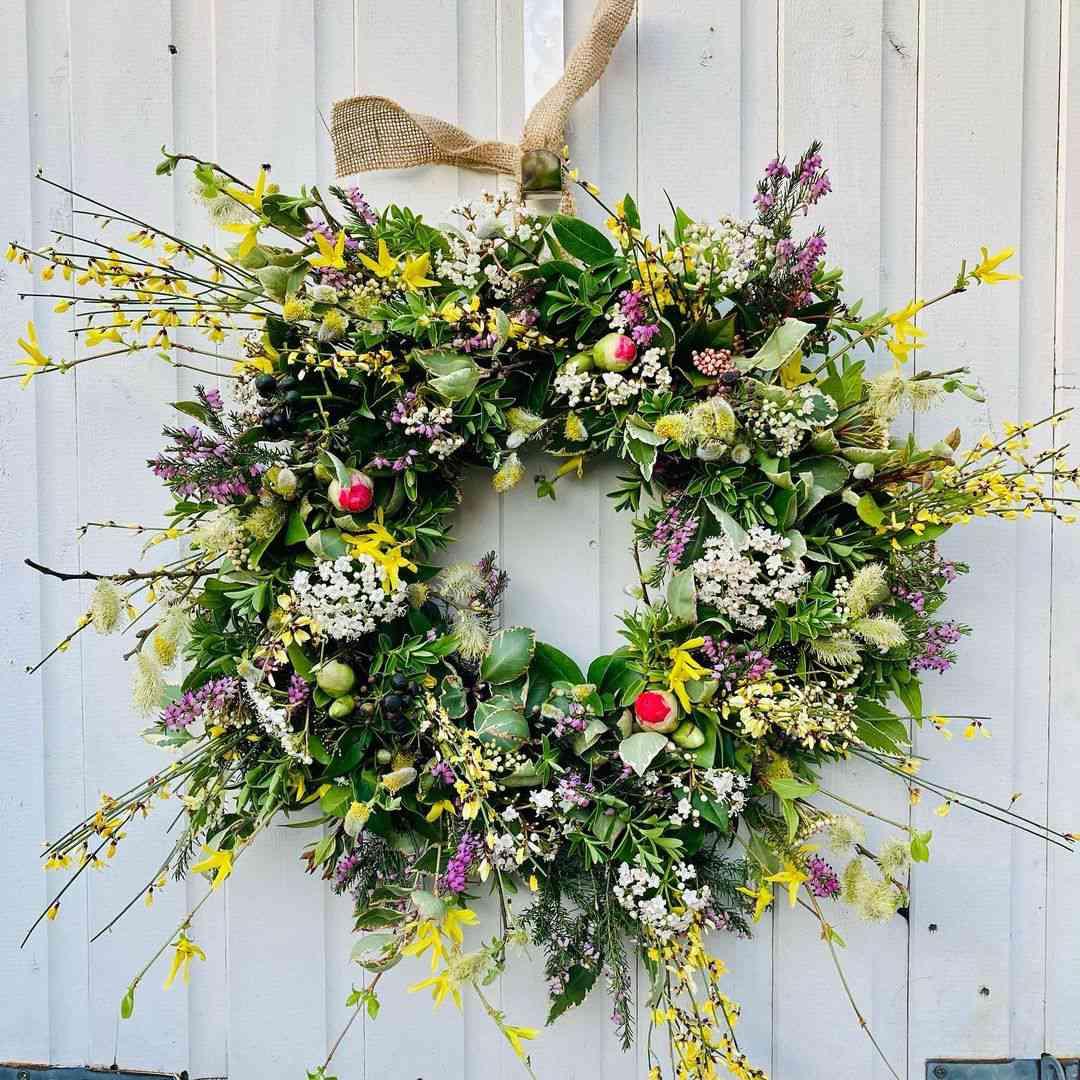 Kim Cobain Floral Art spring wreath.