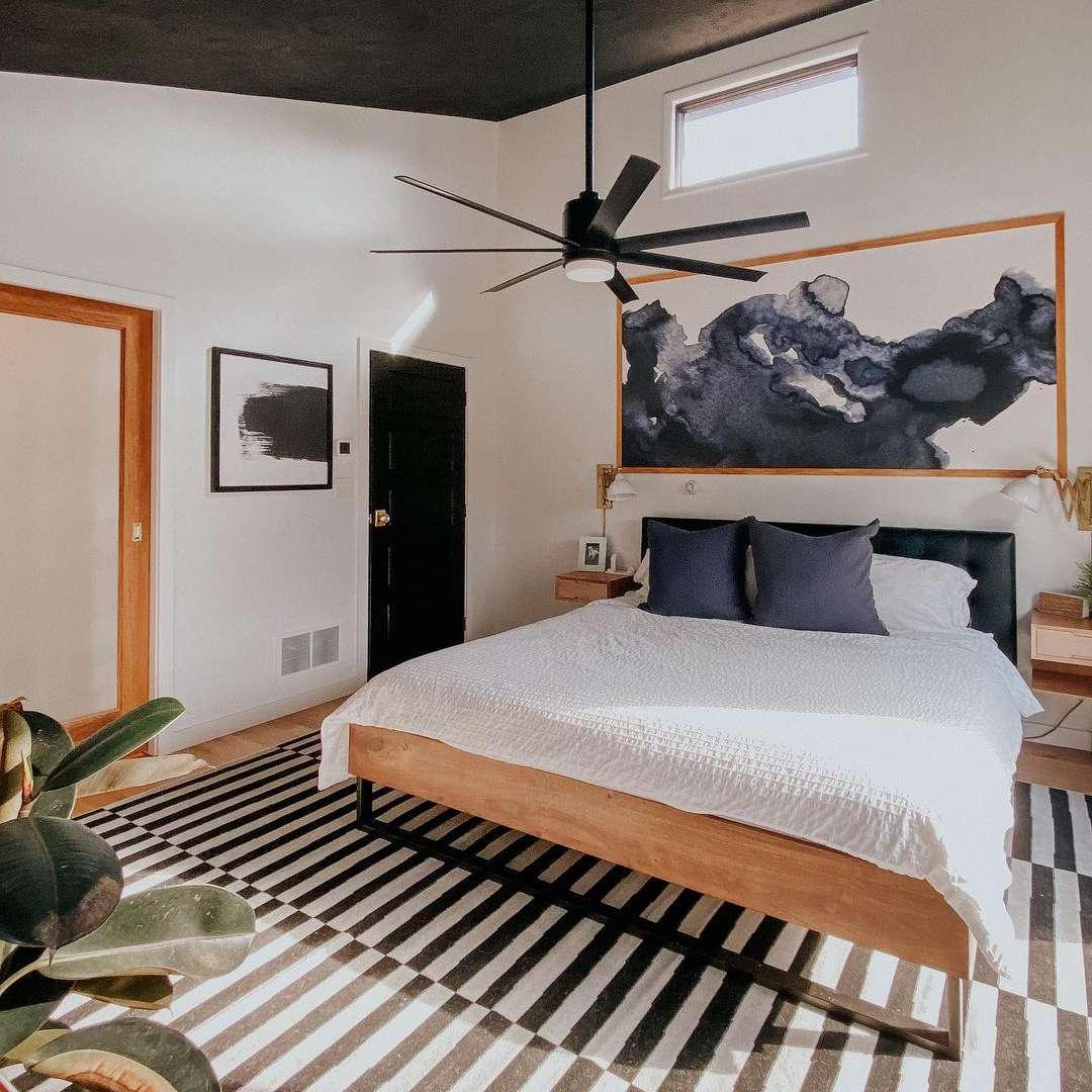 black painted ceiling