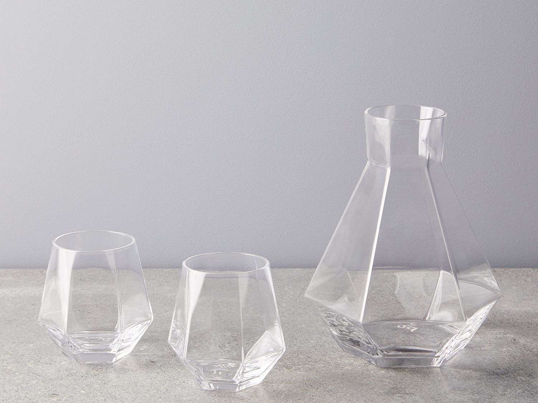 Puik Faceted Crystal Carafe & Glasses