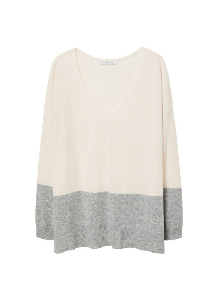 Contrasting cashmere sweater