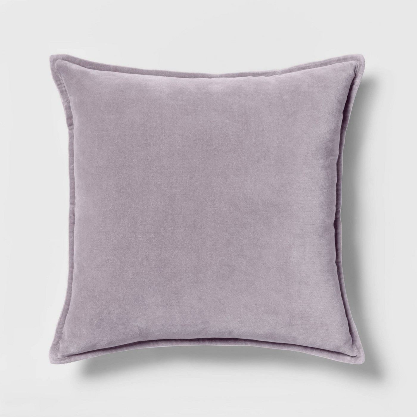 Solid Velvet with Zipper Closure Square Throw Pillow