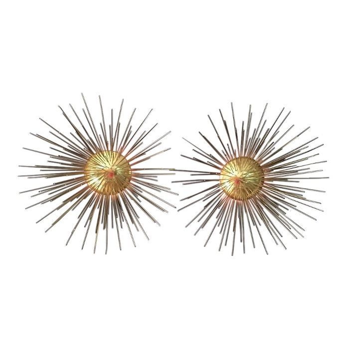 Chairish Gilded Starburst Sconces—Where to Sell Furniture Online
