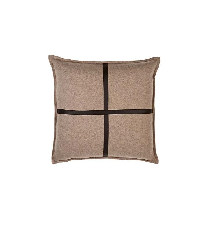Sardinia Cashmere & Leather Pillow