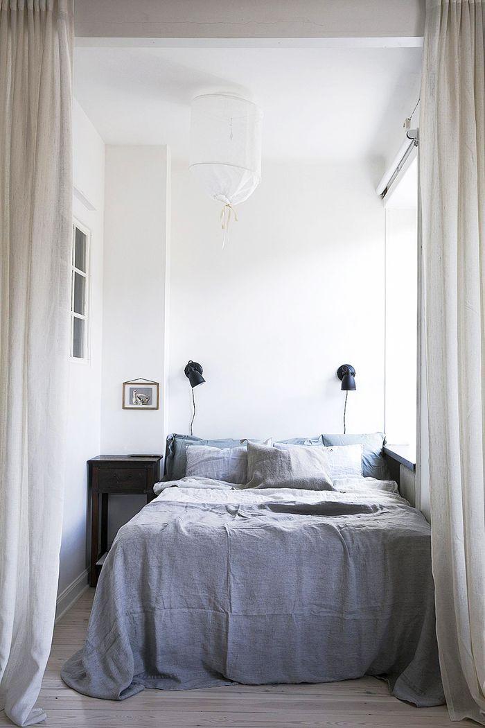 Small-Space Scandinavian Design—Blue Bedroom