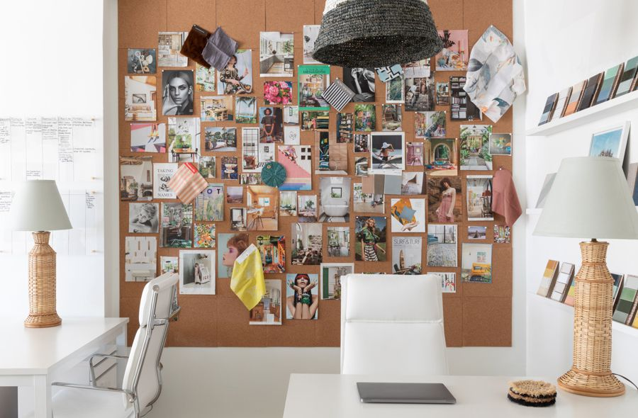 Artful gallery wall filled with inspirational photos.