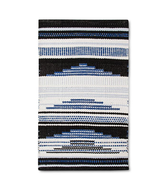 Room Essentials Blue Geometric Woven Accent Rug