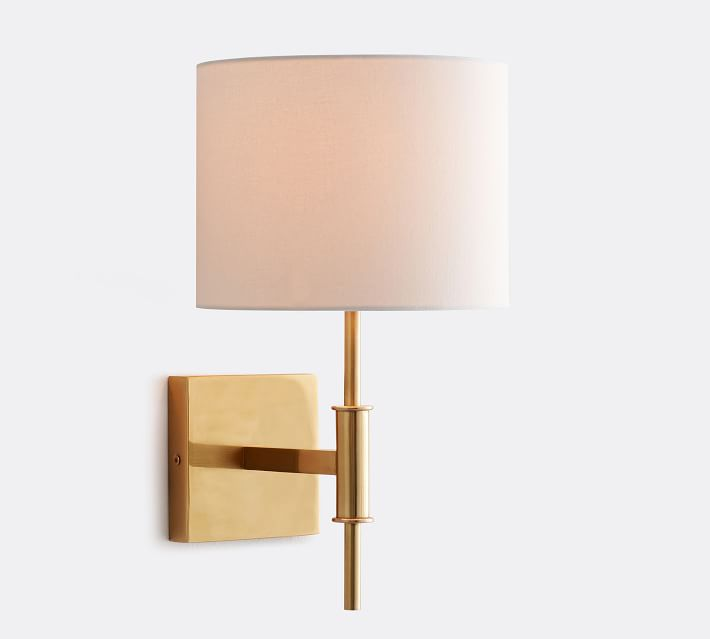 drum shade sconce