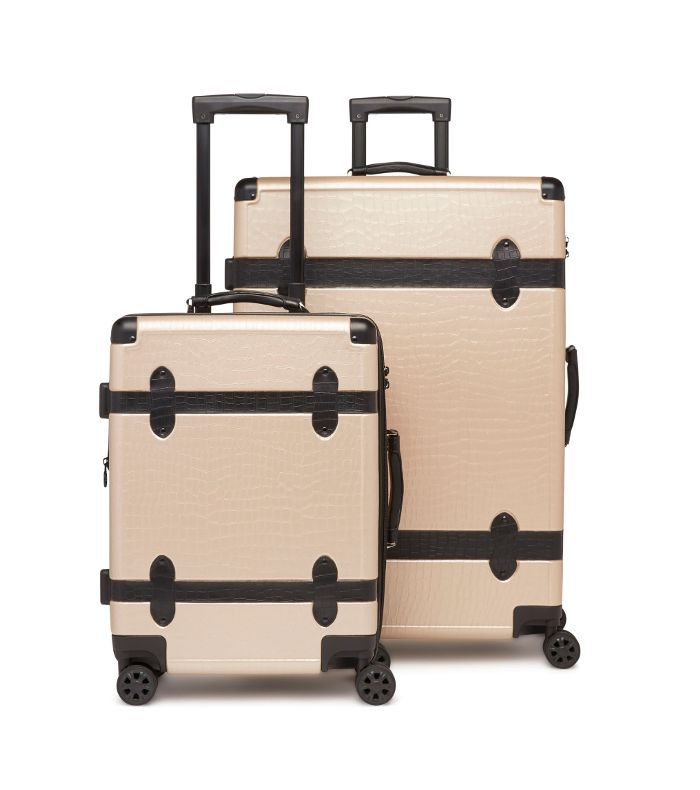 Calpak 20-Inch & 28-Inch Trunk Rolling Luggage Set - Beige