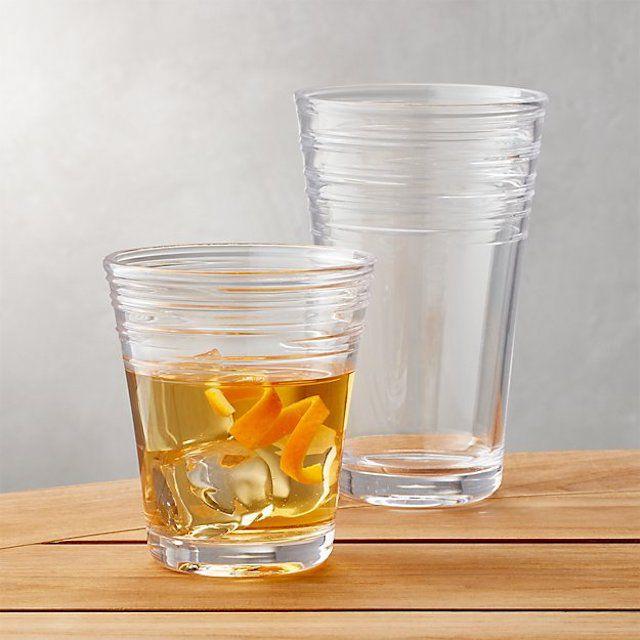 Crate & Barrel Swirl Acrylic Glasses