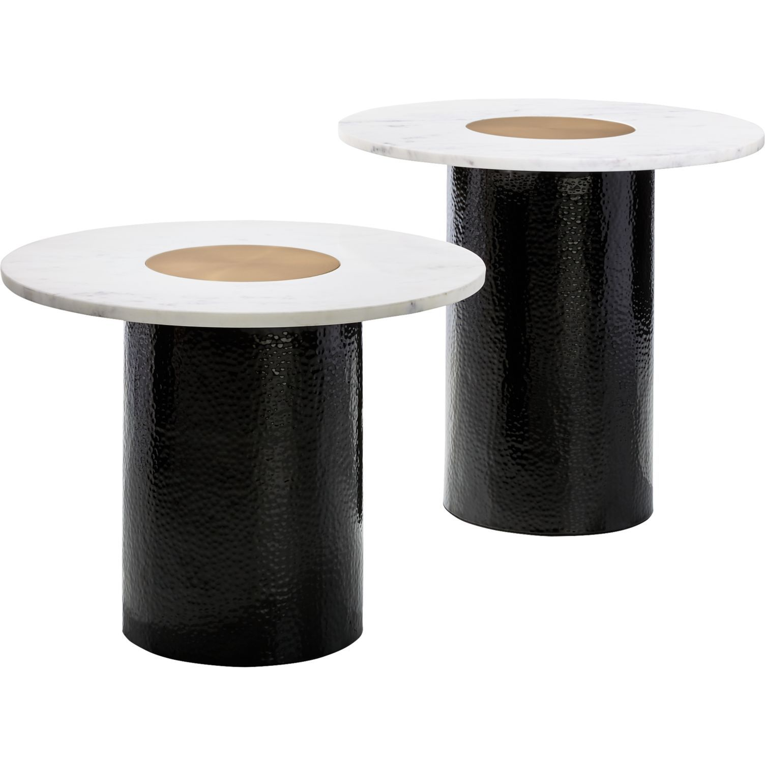 CB2 Chopin Metal and Marble Side Tables