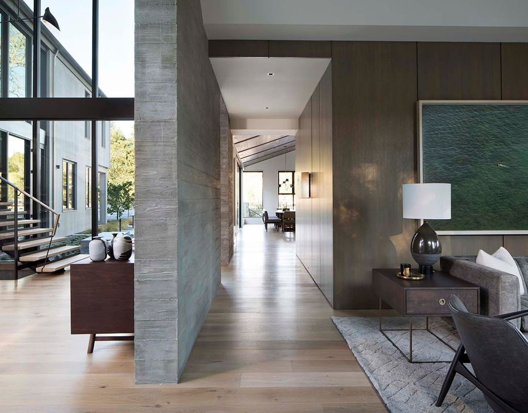 Gray walls in an open concept home