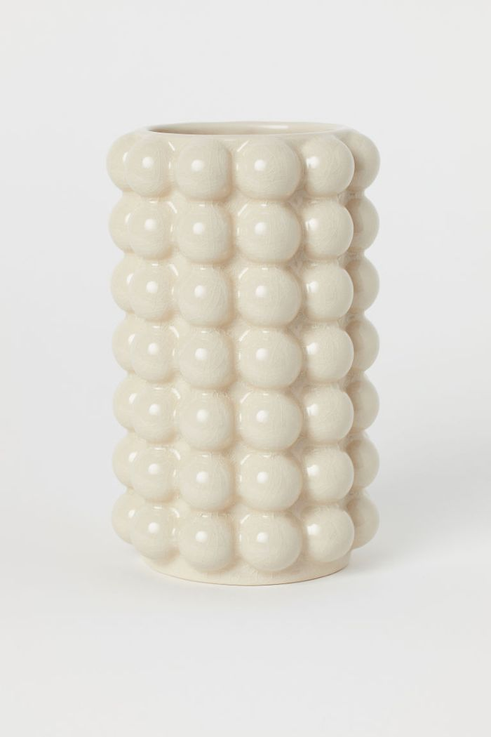 H&M Tall Vase with Bubbles
