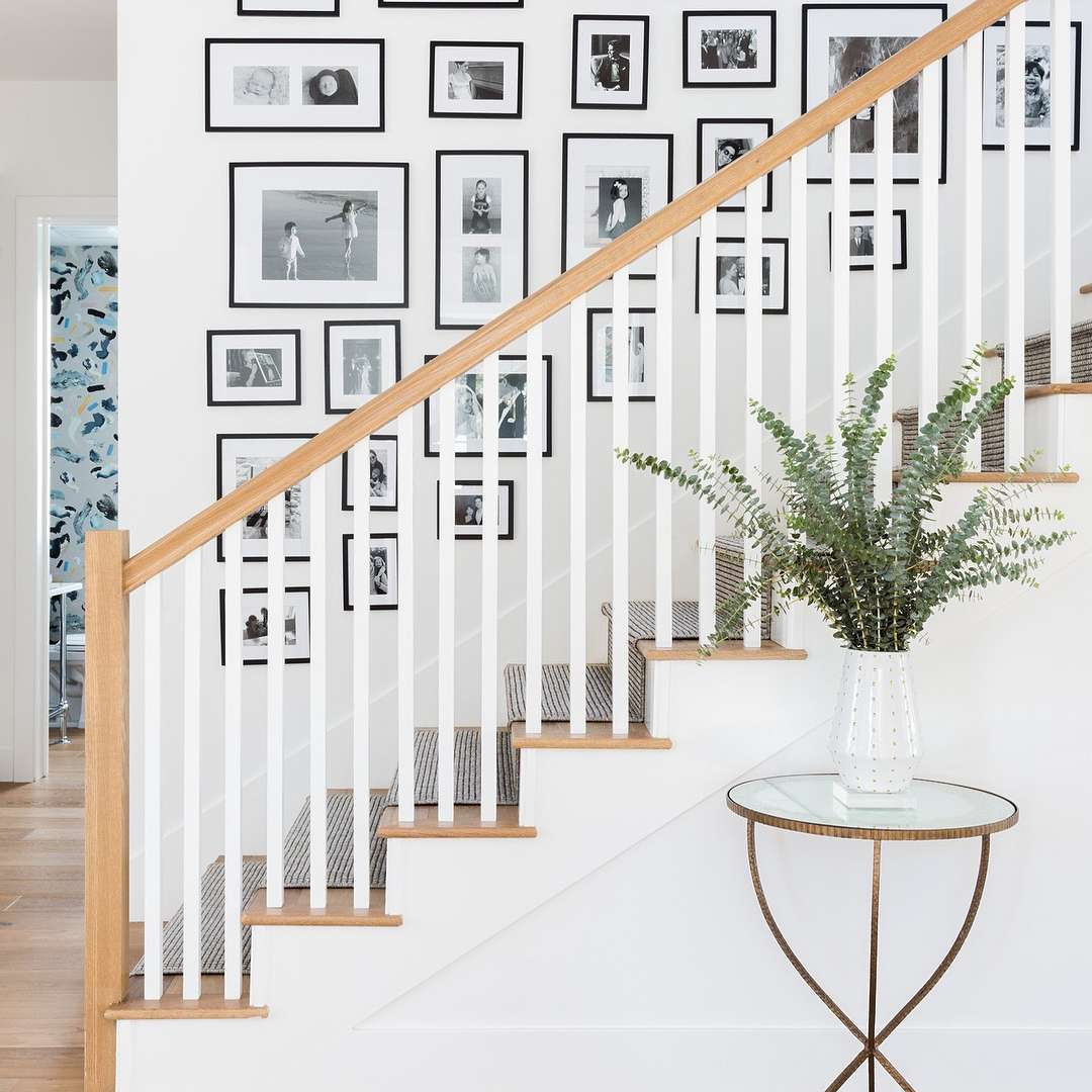 Staircase with gallery wall.