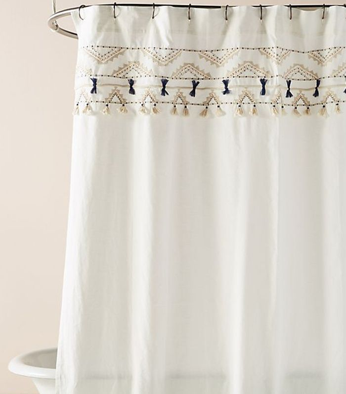 Vineet Bahl Embroidered Romula Shower Curtain