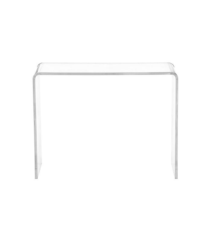 CB2 Peekaboo Acrylic Console Table