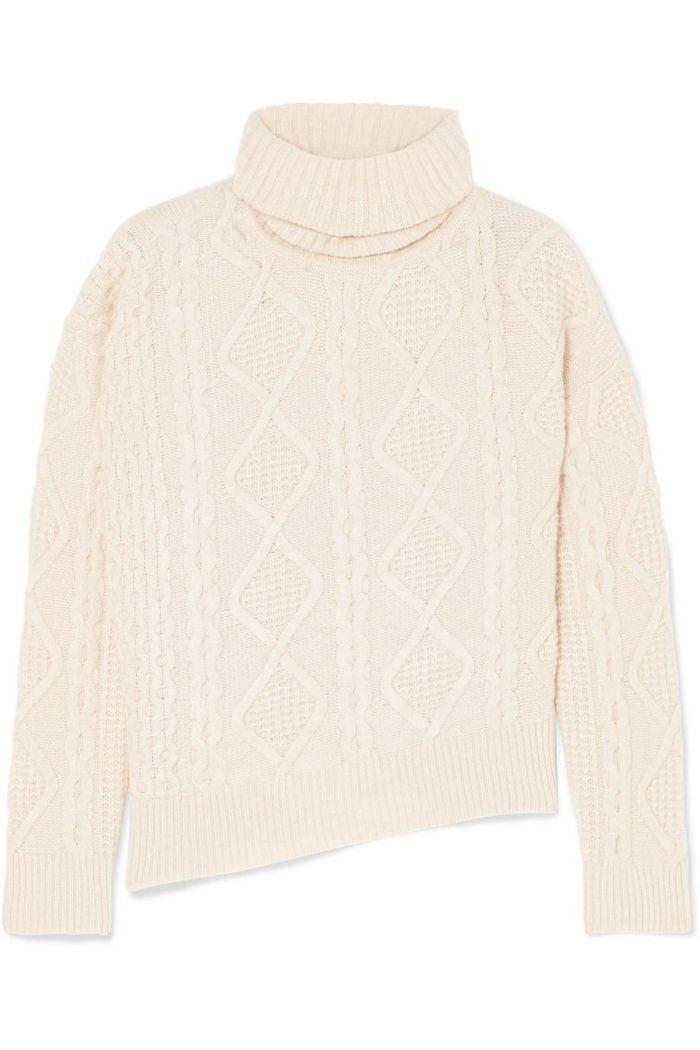 Jaira Cable-knit Wool Turtleneck Sweater