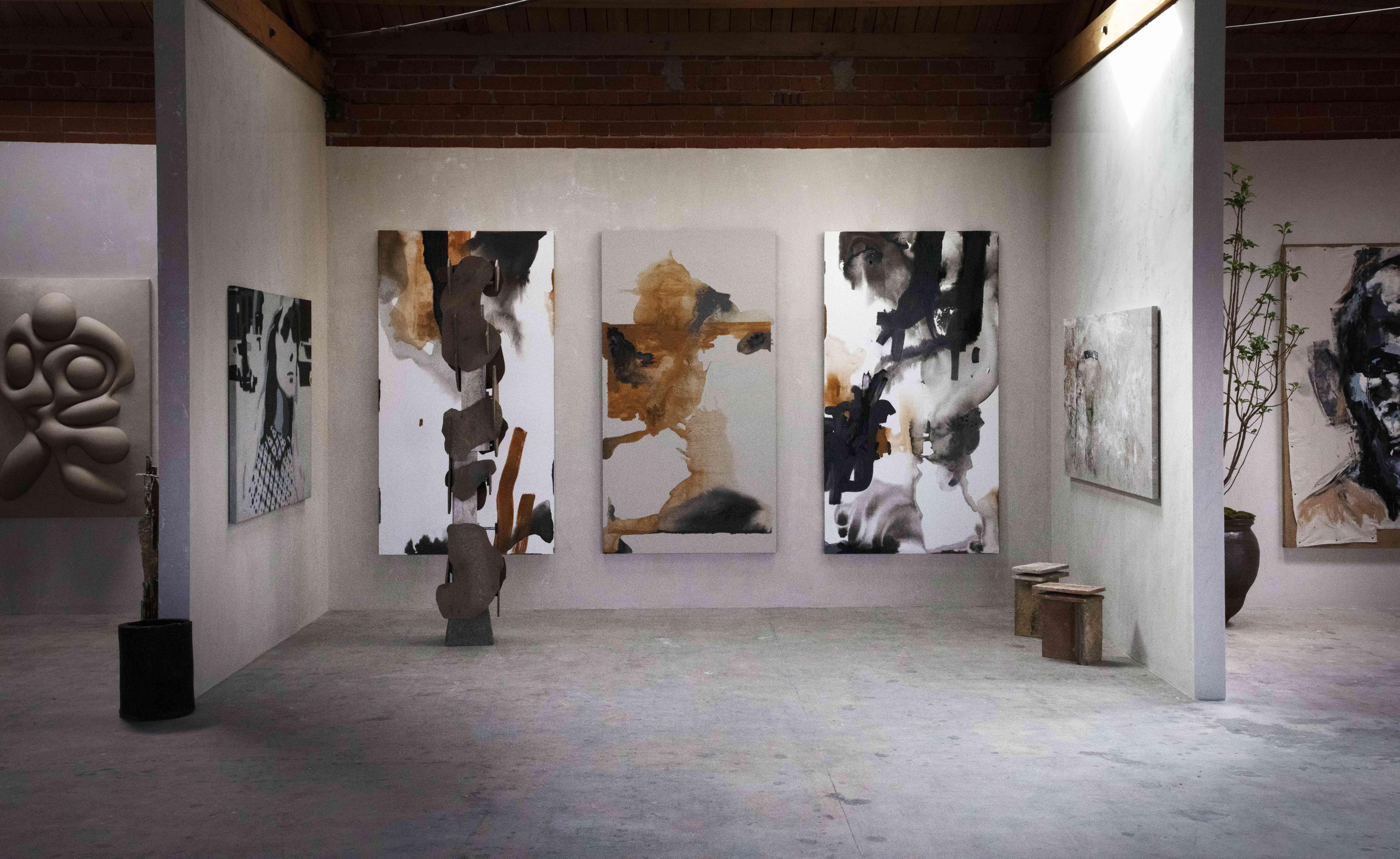 Wall art in exhibit.