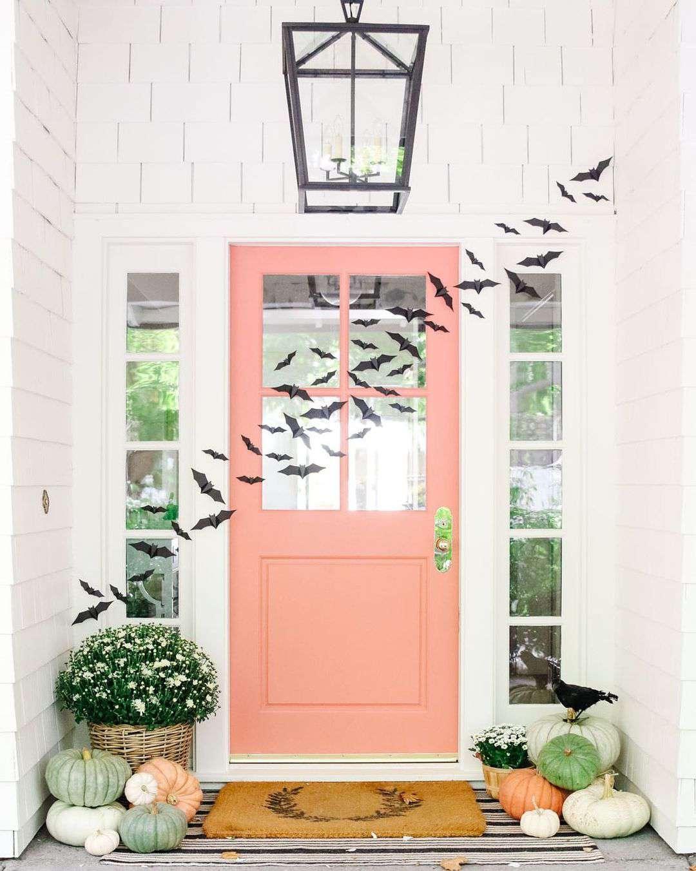 Pink exterior door