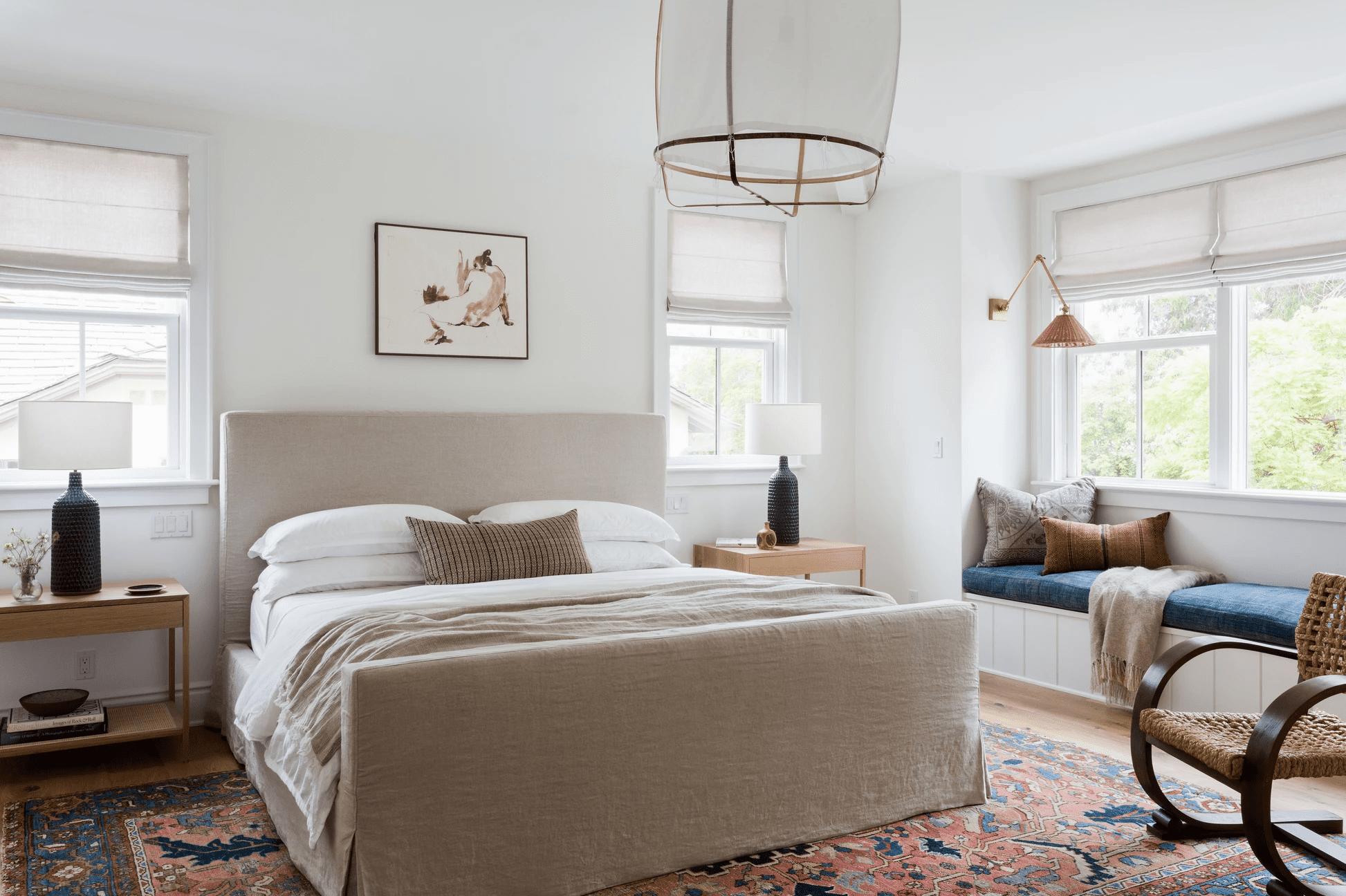 dormitorio con colores neutros