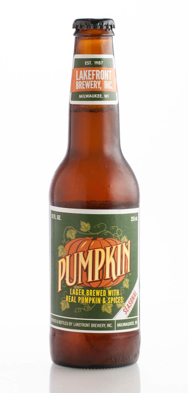Bottle of pumpkin beer.