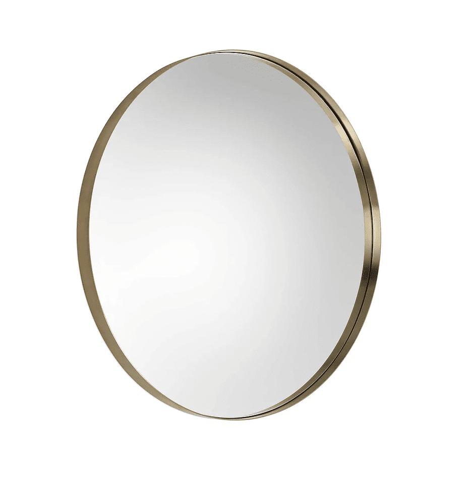 Duluth Brushed Brass Round Mirror