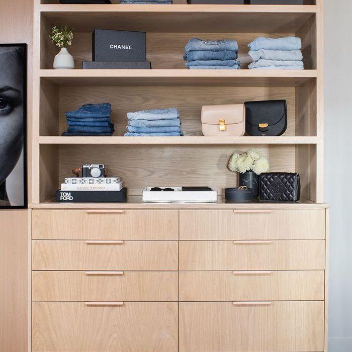 a Marie Kondo Method organized closet