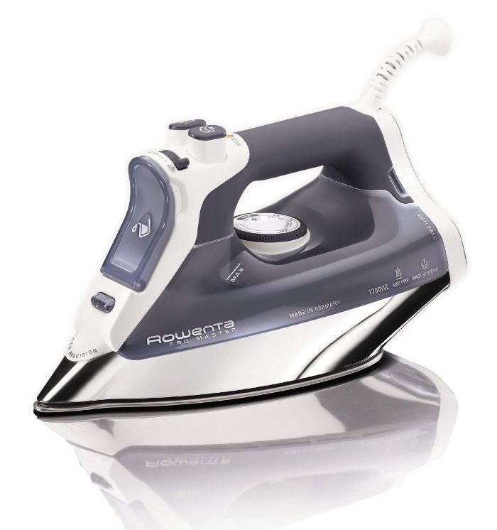 DW8080 Pro Master 1700-Watt Micro Steam Iron Stainless Steel Soleplate with Auto-Off, 400-Hole, Blue