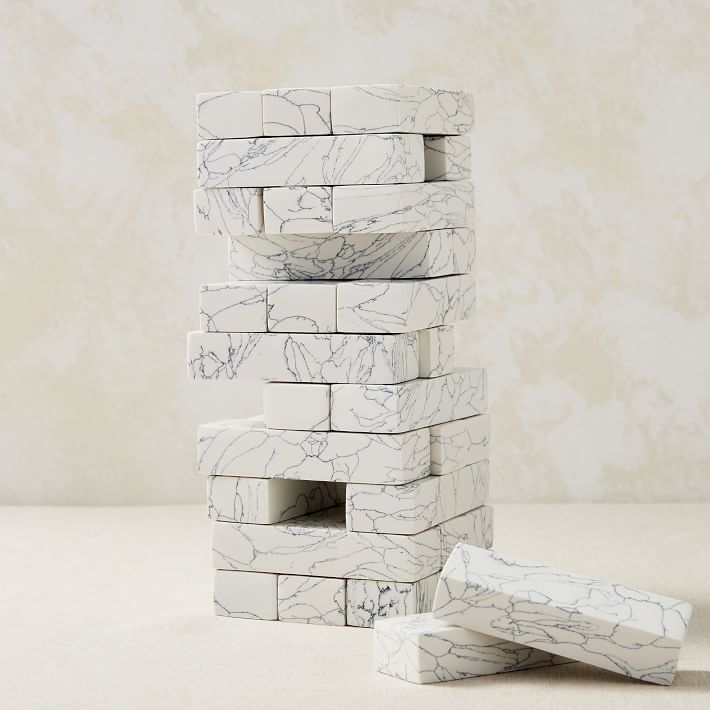 Marbled Stone Stacking Game