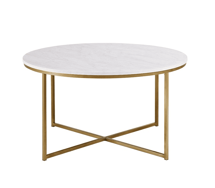 Saracina Home Coffee Table With X-Base