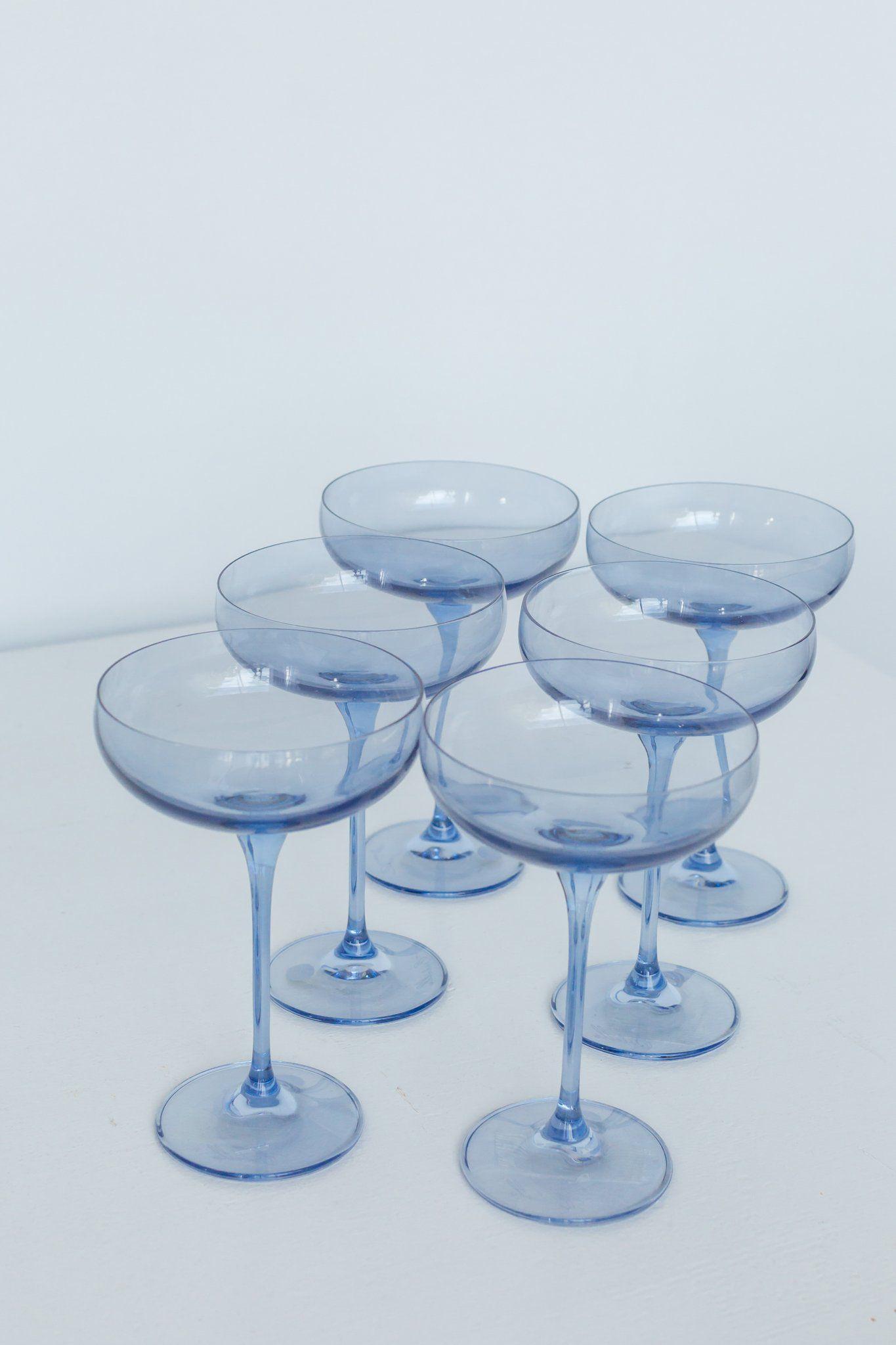 Estelle Colored Champagne Coupe Stemware