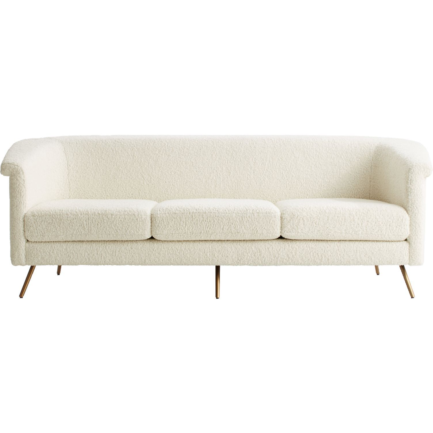 CB2 Vicente Faux Shearling Sofa