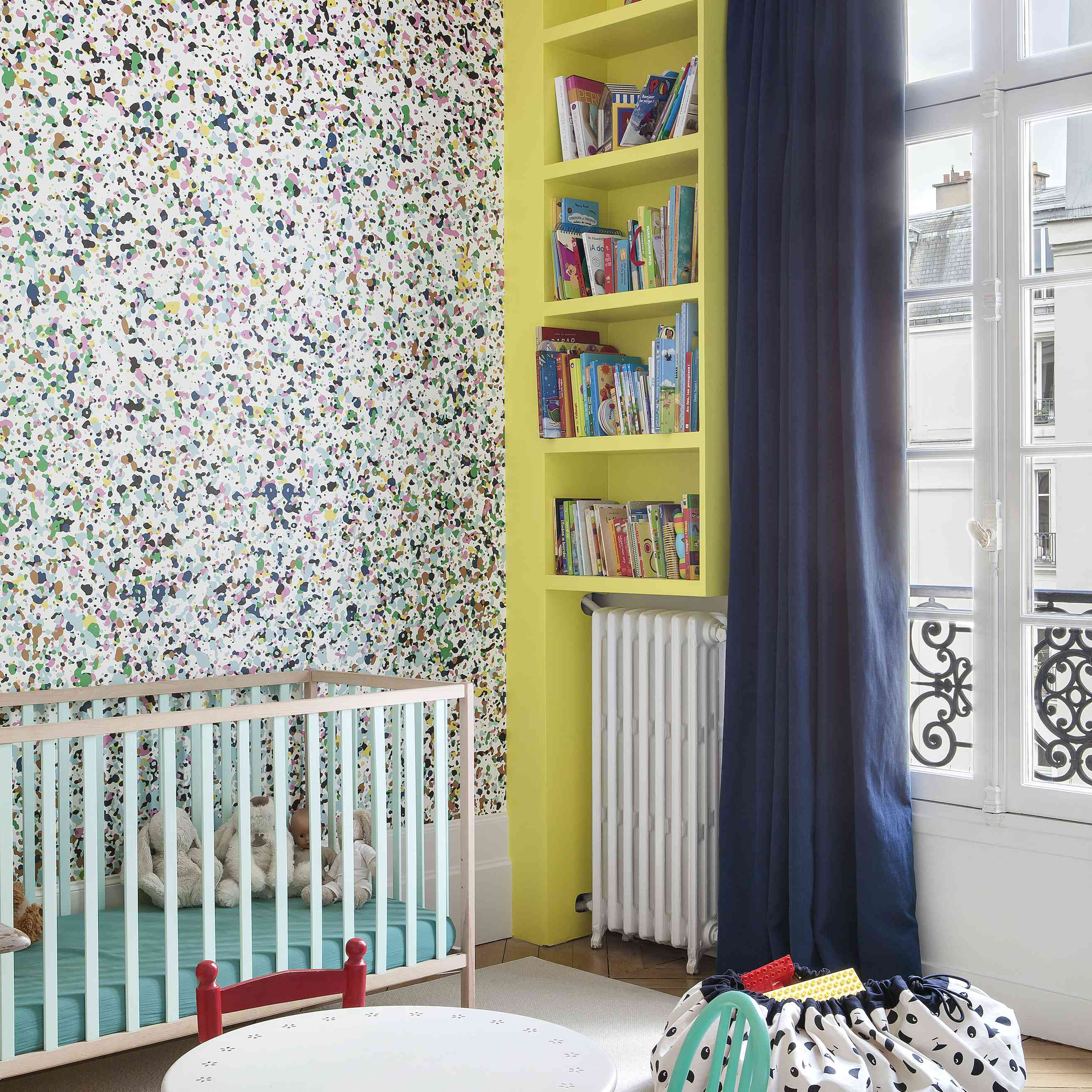chartreuse kids room